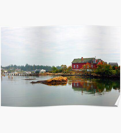 Red House, Corea Harbor, Corea, Maine Poster