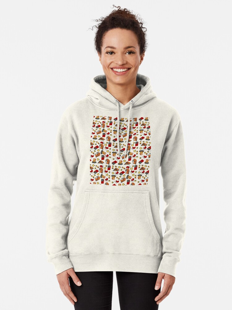 Alternate view of Backpacking items pattern Pullover Hoodie
