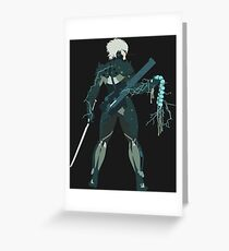 Raiden Vector Art - Metal Gear Solid/Rising Greeting Card