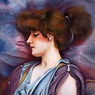 """After William Godward: """"far away thoughts"""" by Lubna"""