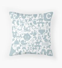 Baby a background Throw Pillow