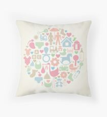 Baby a sphere Throw Pillow