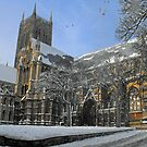 lincoln cathedral in snow by morpeth1865