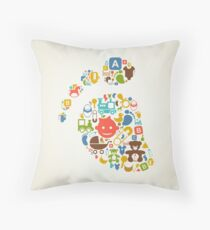 Kid a trace Throw Pillow
