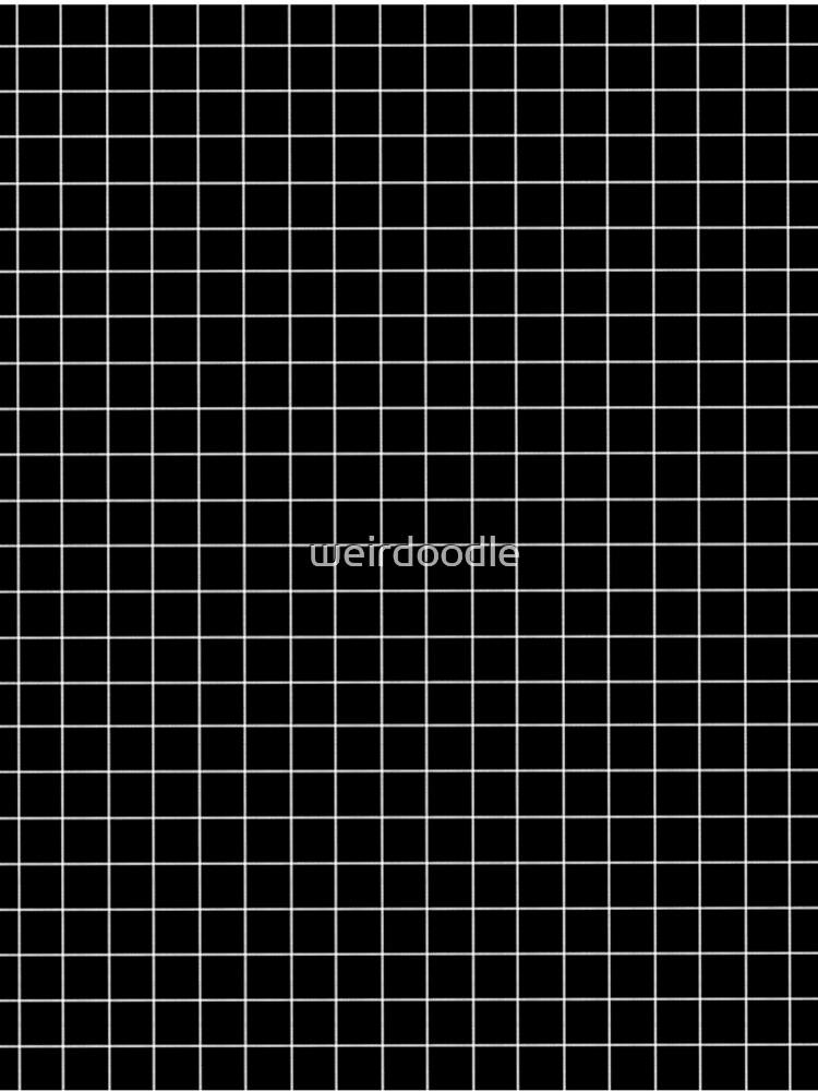 Black window pane print by weirdoodle