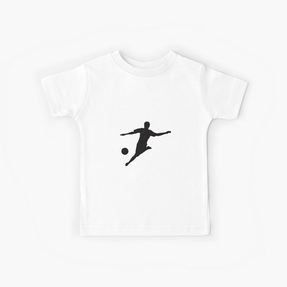 American Flag Soccer Tee USA Flag Soccer Player T-Shirt Kinder T-Shirt