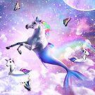 Rainbow Mermaid Unicorn - Mermicorn by SkylerJHill