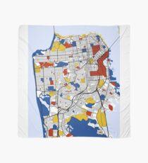 San Francisco Mondrian map Scarf