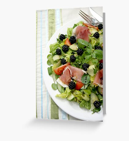 Blackberry Prosciutto Salad Greeting Card