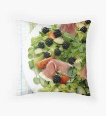 Blackberry Prosciutto Salad Throw Pillow