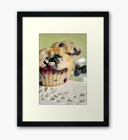 Blueberry muffins Framed Print