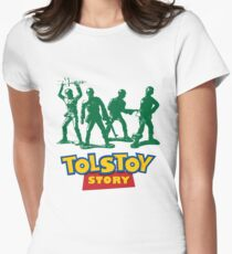 Tolstoy Story Womens Fitted T-Shirt