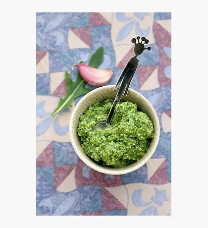 Wild rocket pesto Photographic Print