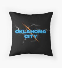 Oklahoma City Storm Basketball Throw Pillow