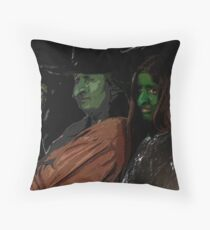 Apprentice and tutor Witch Hazel Throw Pillow