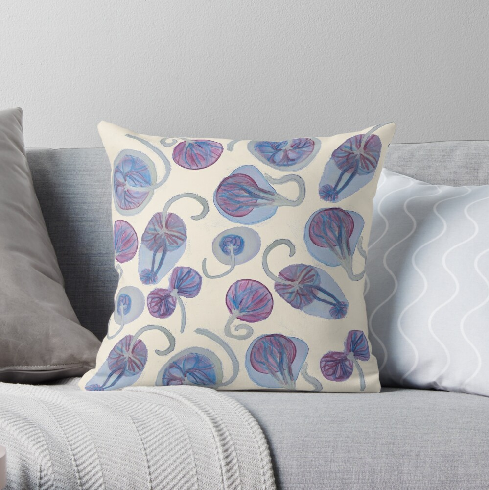 Quot Funky Placenta Print Quot Throw Pillow By Placentawisdom