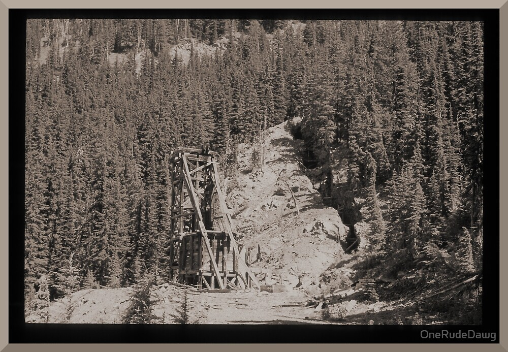 Abandoned Mine Structure With Collapsed Shaft by OneRudeDawg