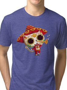The Day of the Dead Cute Cat El Mariachi Tri-blend T-Shirt