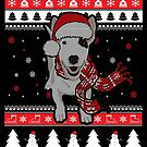 English Bull Terrier Ugly Christmas von ilovepaws