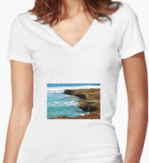 Coastline Women's Fitted V-Neck T-Shirt