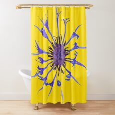 Thin blue flames Shower Curtain