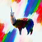 Rainbow Llama Unicorn - Llamacorn by SkylerJHill