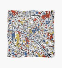 Paris Mondrian map Scarf
