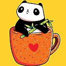 Panda in a Mug by LydiaLyd