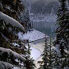 Lesser Garibaldi Lake in the Snow by Michael Garson