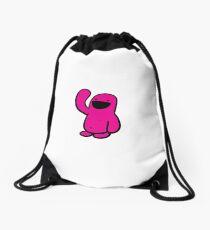 Pink Happyman iPhone Case Drawstring Bag