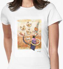 Cat Juggler Womens Fitted T-Shirt
