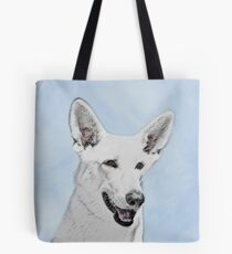 White Shepherd Tote Bag