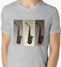 Three Saxophones Mens V-Neck T-Shirt