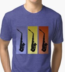 Saxophone T Shirt Tri-blend T-Shirt