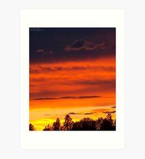 Rooftop Sunset 4 Art Print