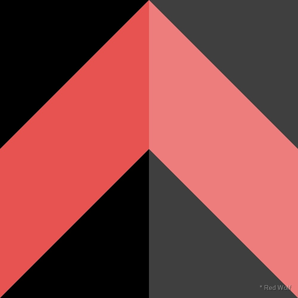 Geometric Pattern: Chevron: Dark/Red by * Red Wolf