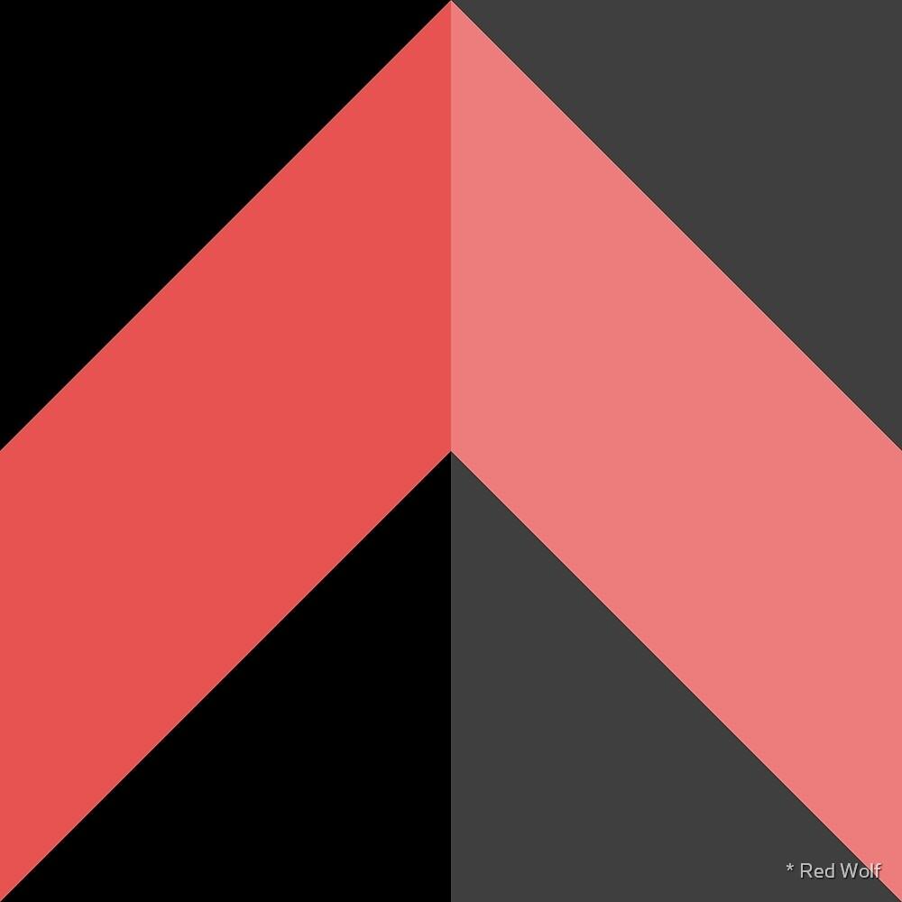 Geometric Pattern: Chevron: Dark/Red by * Red Wolf