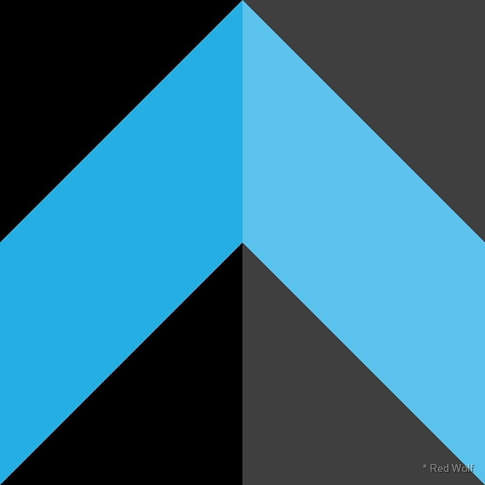 Geometric Pattern: Chevron: Dark/Blue by * Red Wolf