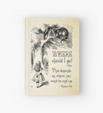 Cuaderno de tapa dura Alicia en el país de las maravillas - Cita de Cheshire Cat - ¿A dónde debería ir? - 0118