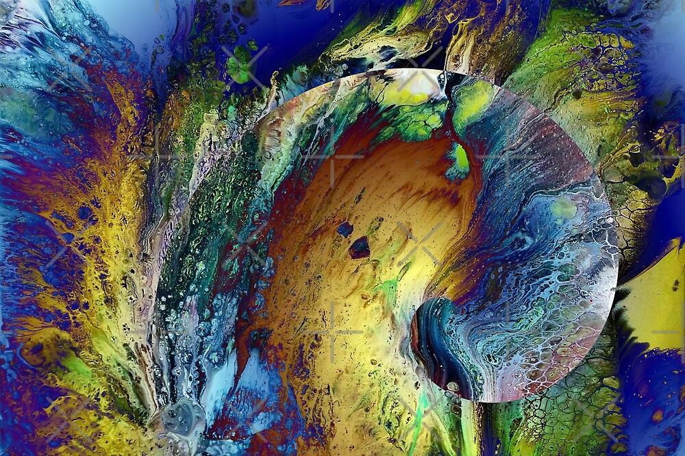New Year's Eve - fluid acrylic painting, digital art by Kathryn Andersen