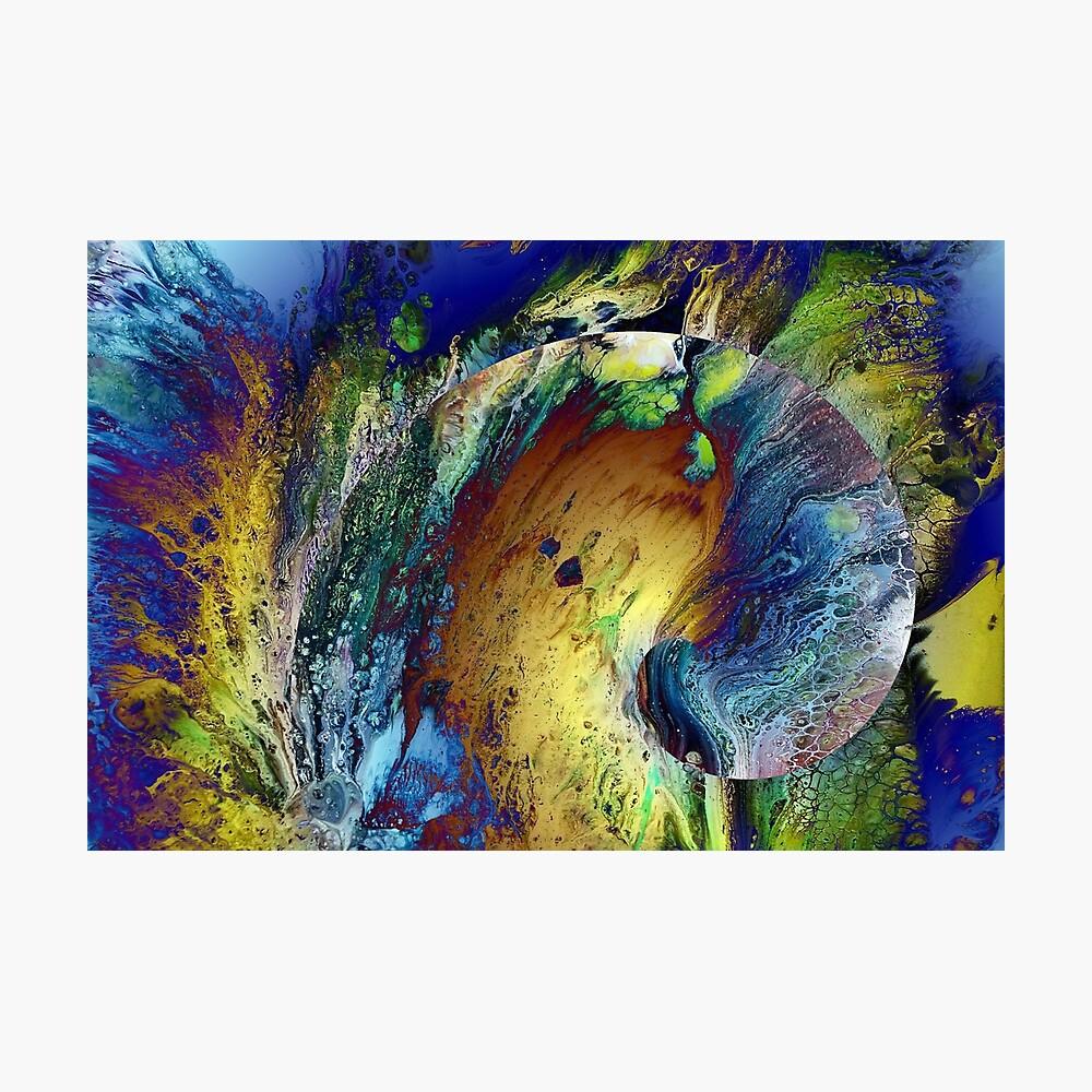 New Year's Eve - fluid acrylic painting, digital art Photographic Print