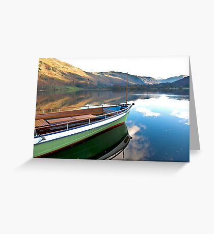 Sailing on Ullswater. Greeting Card
