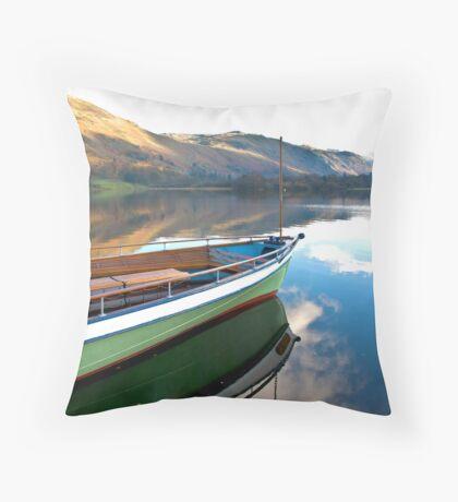 Sailing on Ullswater. Throw Pillow