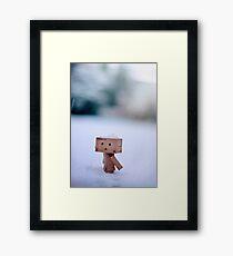 Danbo In The Snow Framed Print
