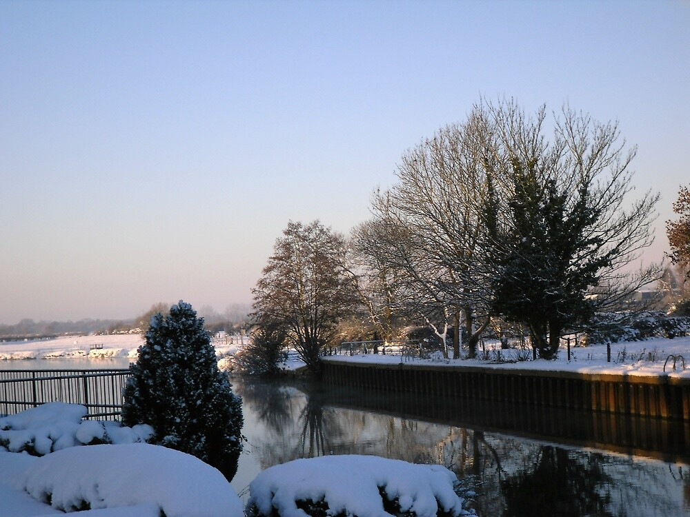 Winter scene by the Trent_1 by Ian Lyall