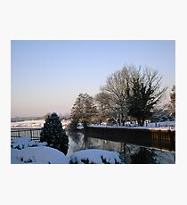 Winter scene by the Trent_1 Photographic Print