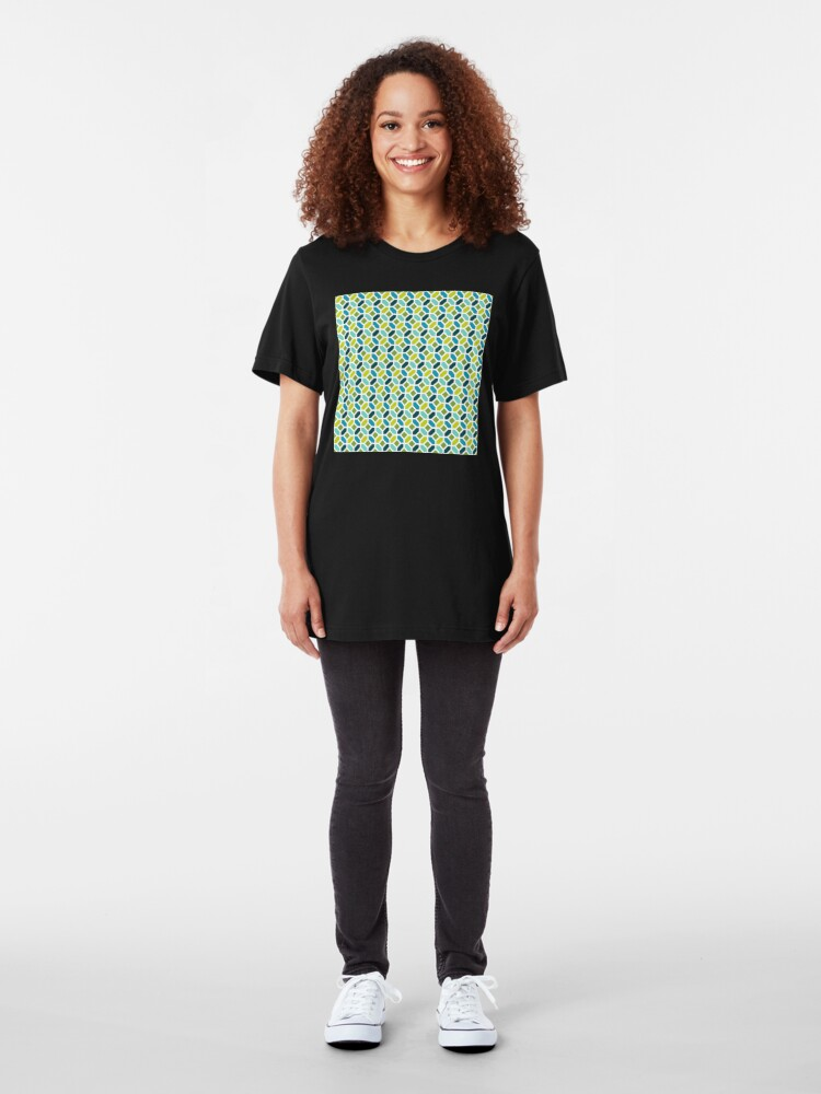 Alternate view of Geometric Pattern: Octagon: Spring Slim Fit T-Shirt