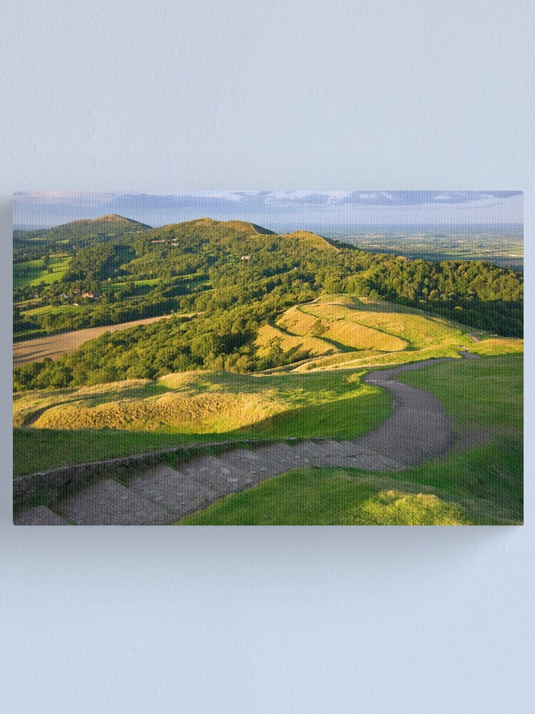 Alternate view of Malvern Hills : curving down Canvas Print