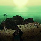 Ocean Mountain & Sun Dreamscape by Zach Murray