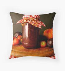 A Jar of Jam. Throw Pillow